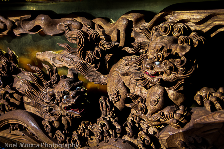 Wood carving panels on the yatai