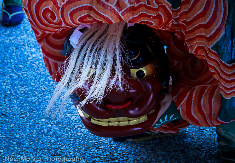 Dragon dance detail