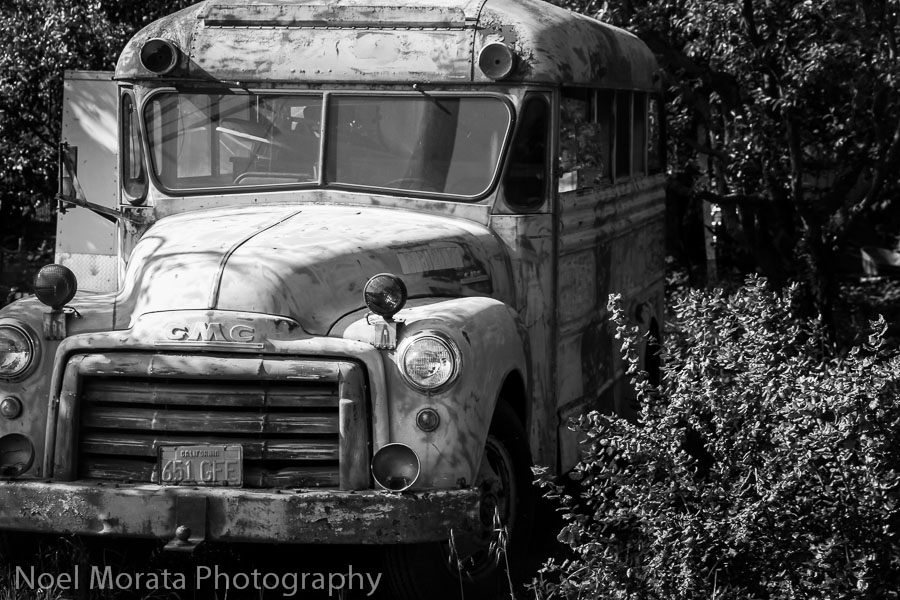 Old rusty along the highway at Dry Creek Valley
