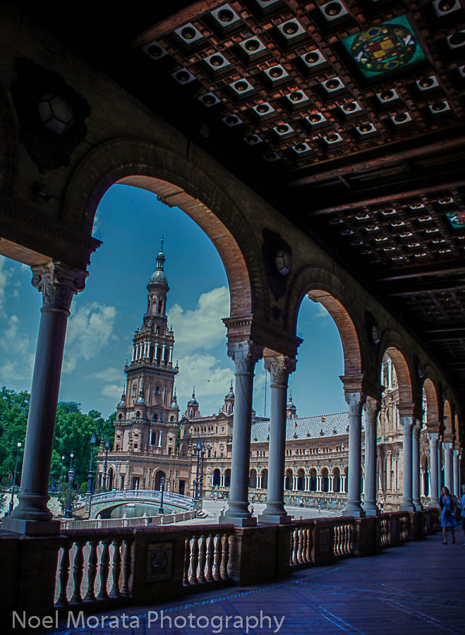 Plaza de Espana, Seville - view from loggia running the entire building
