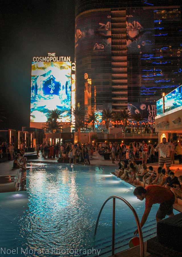 Pool party scene at the Cosmopolitan Hotel on the strip