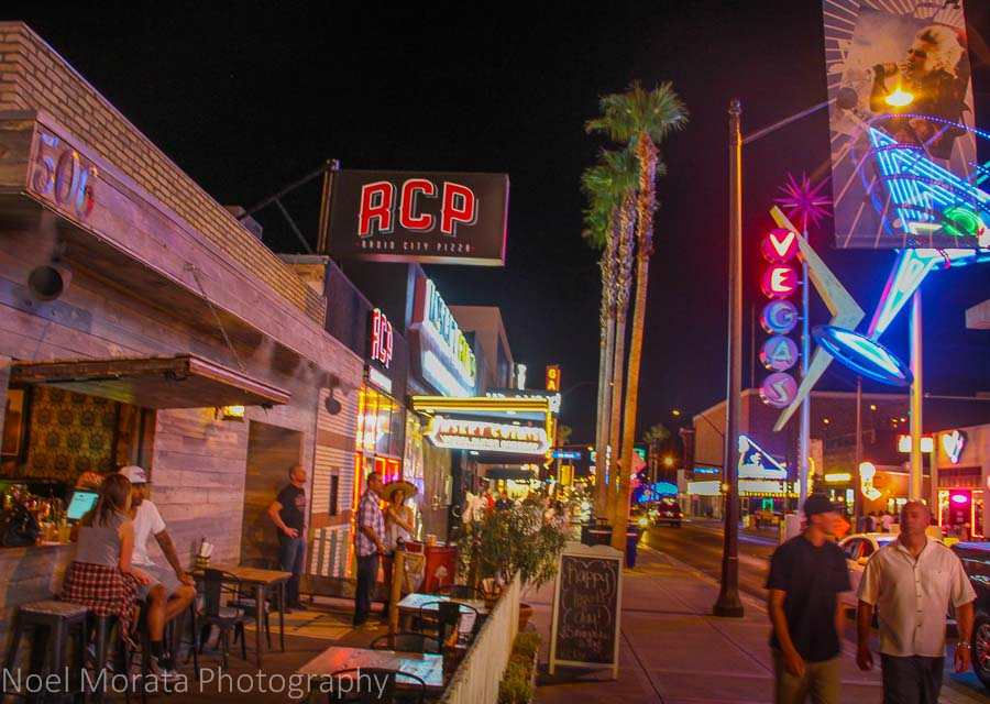 Things are just as lively in hip East Fremont Street