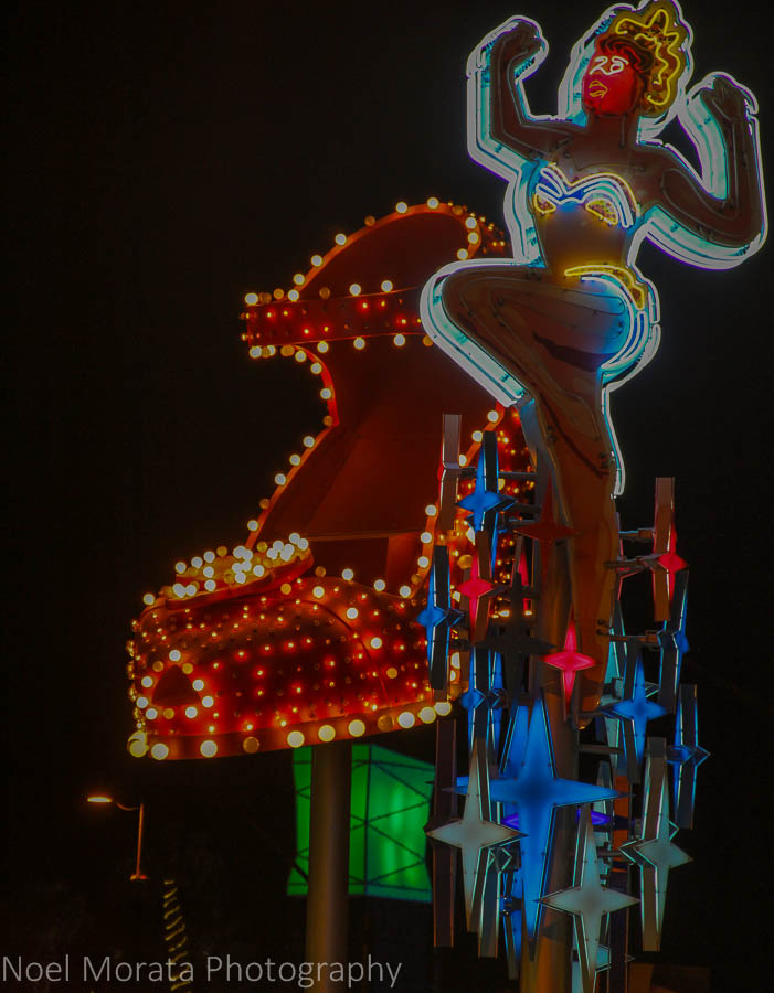Cool retro neon signs in East Fremont Street