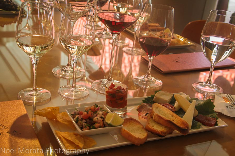 A delicious tapas and wine tasting service at Artesa Winery