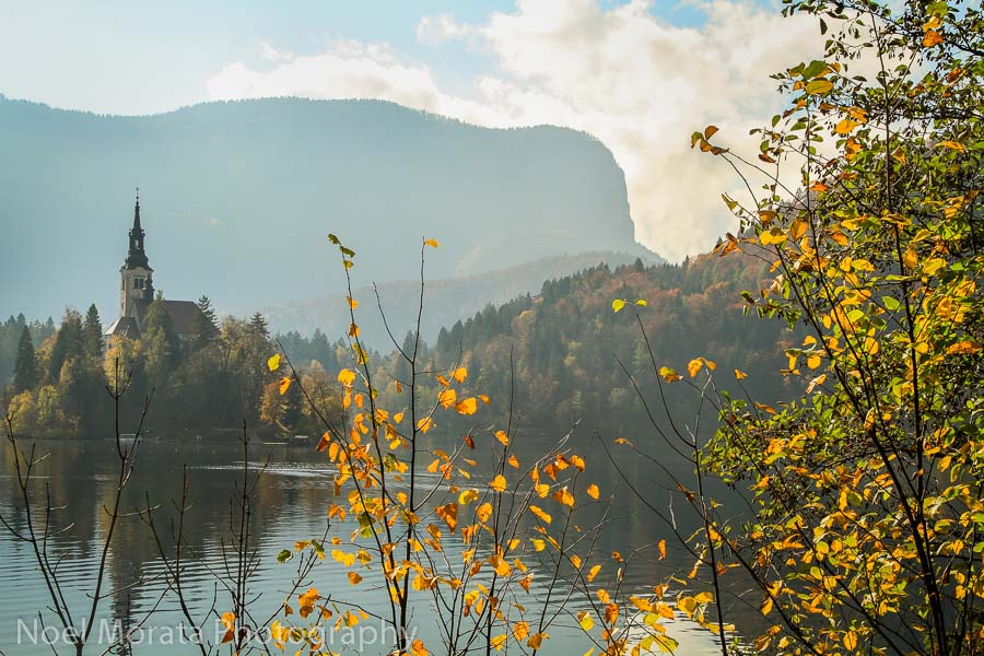 Slovenia highlights:  fall time in Lake Bled