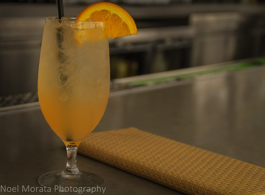 A specialty champagne cocktail perfect for a Vegas pool scene