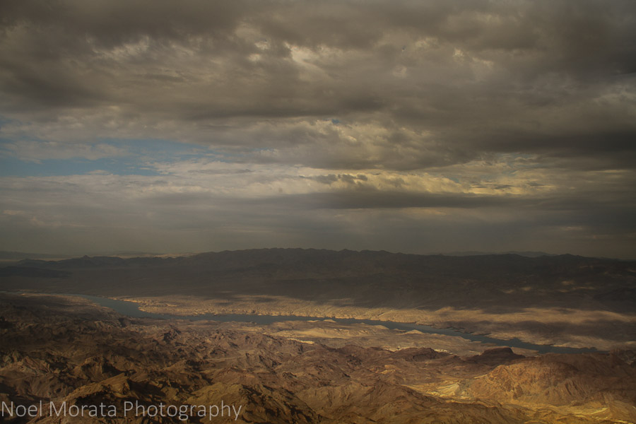 Flying along the Colorado River from Lake Mead