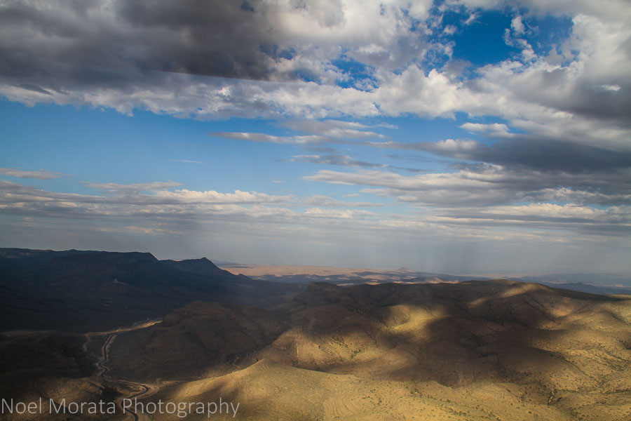 Beautiful clouds and patterns over the Nevada landscape