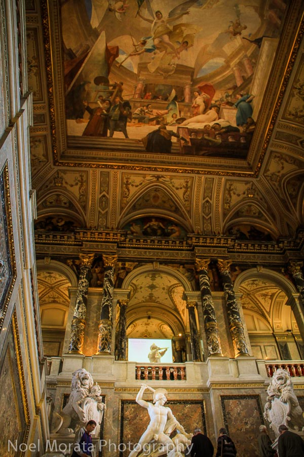 The grand staircase at the Kunsthistorisches Museum