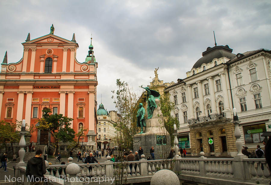 Ljubljana historic center and cathedral