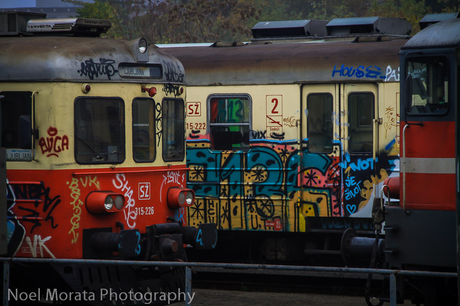 The only graffiti you will find are on the trains in Ljubljana