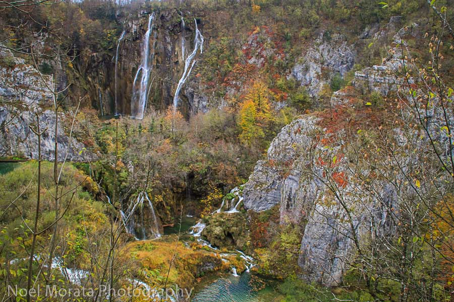 Lower lakes and the main waterfalls in Plitvice