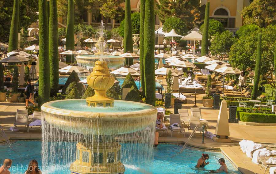 Bellagio outdoor lounge and pools