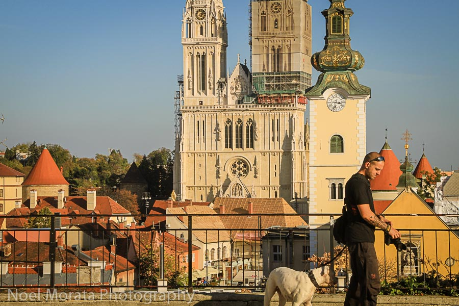 Exploring the upper town and historic district of Zagreb