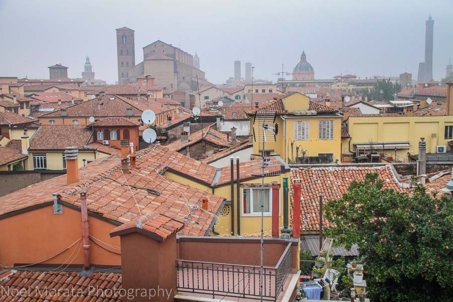 Rooftop views from Hotel Touring in Bologna