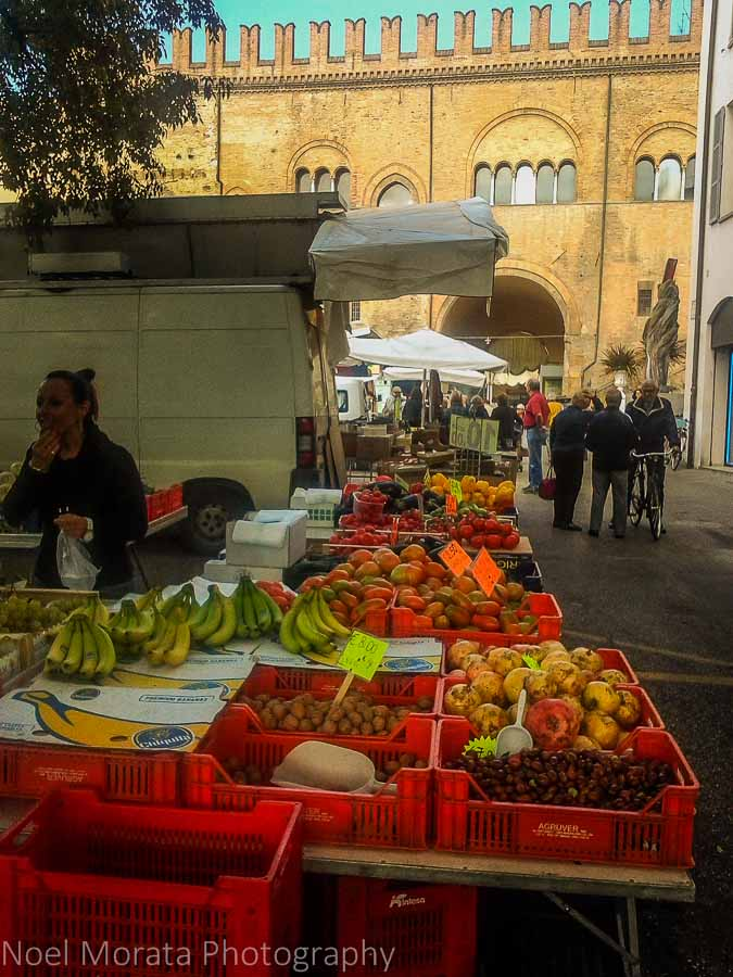 A variety of fresh local produce at the Faenza market