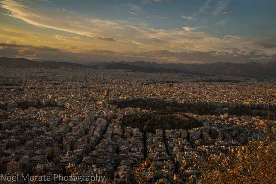 Lycabettus hill and panoramic views of Athens