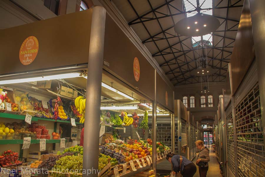 Mercato Del Herb (vegetable market) in Bologna