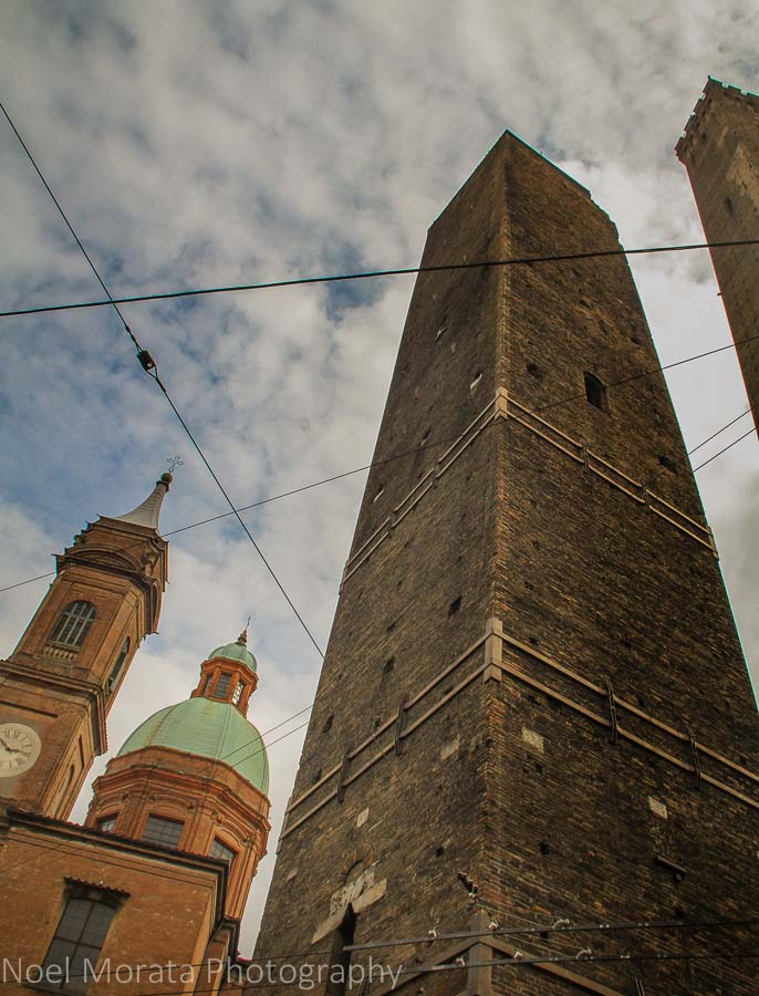 Asinelli and Garisenda towers at Bologna