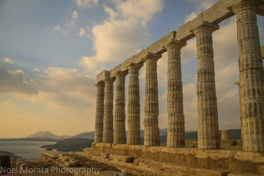 Side view of the temple of Poseidon