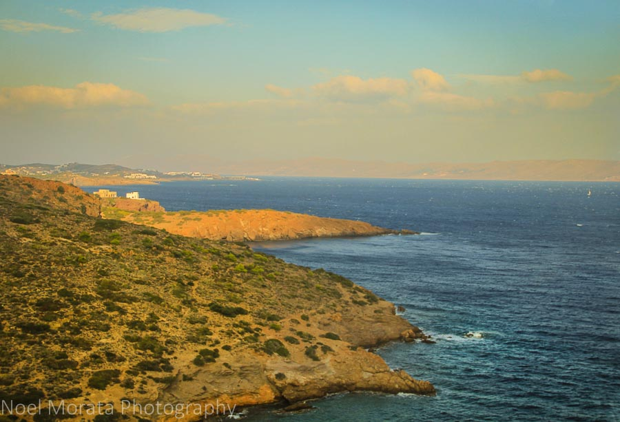 The coastal areas of Athens towards Cape Sounion