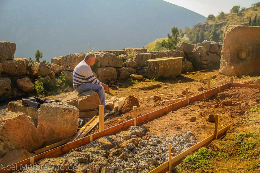 Current excavation work at the Oracles of Delphi