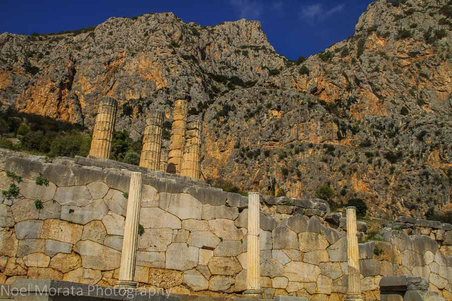 Entering the base of the Oracles of Delphi