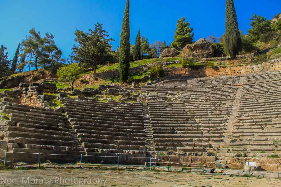 Delphi theater above the temple of Apollo