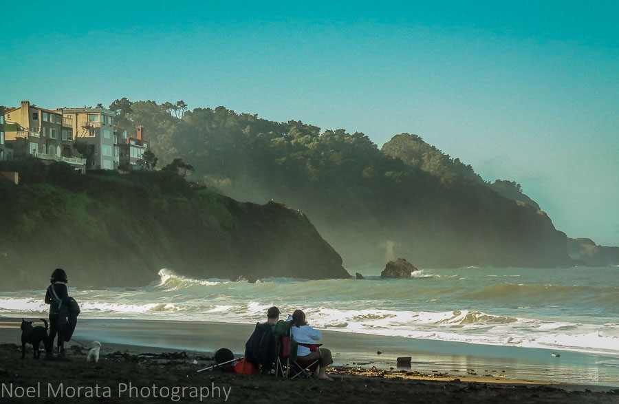 Crabbing at Baker Beach, San Francisco