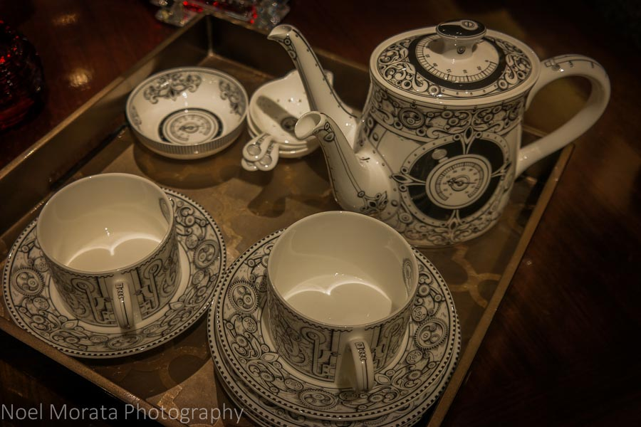Fine china service at Gumps in San Francisco