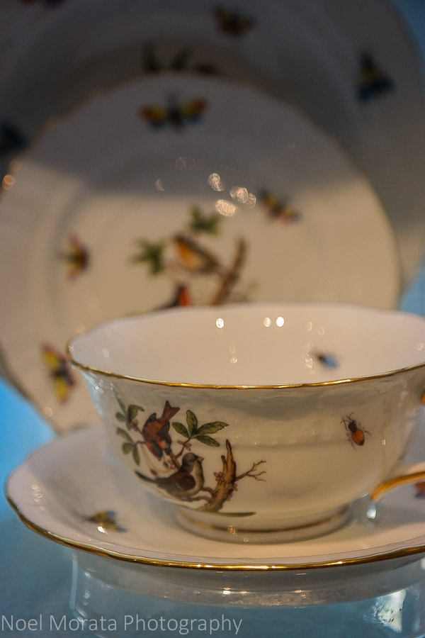 Exquisite china for sale at Gumps in San Francisco
