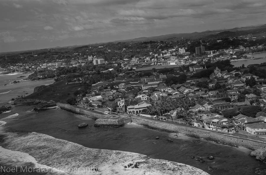 A panoramic view of Galle from above