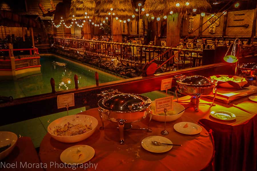 Pupu appetizer buffet at the Tonga room