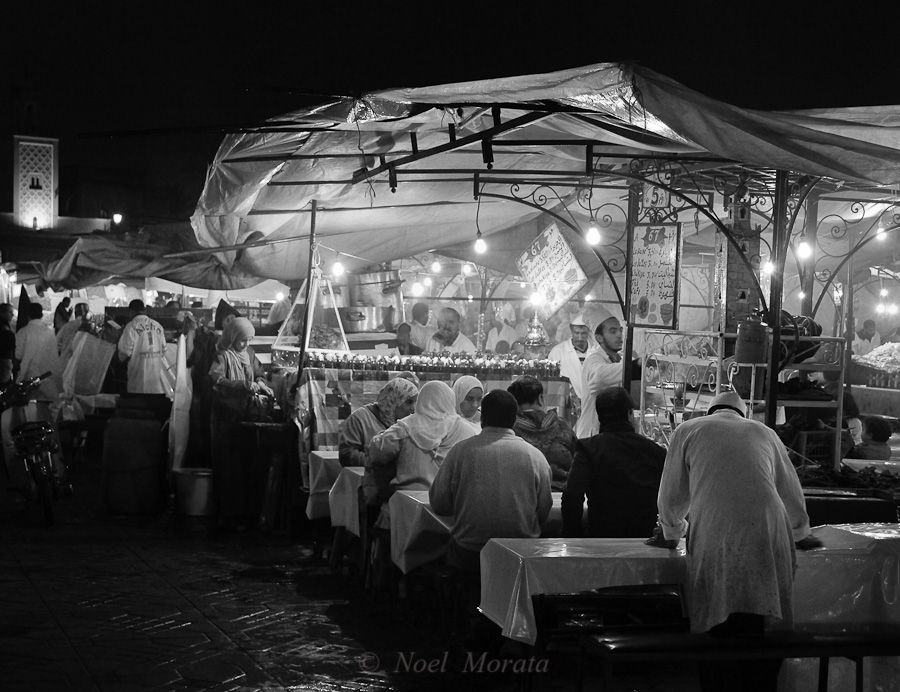 The street vendors at the night market in Marrakesh