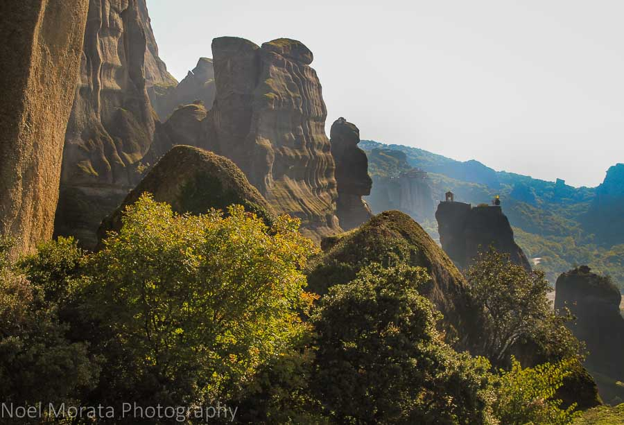 Fascinating cliffs and mountains at Meteora