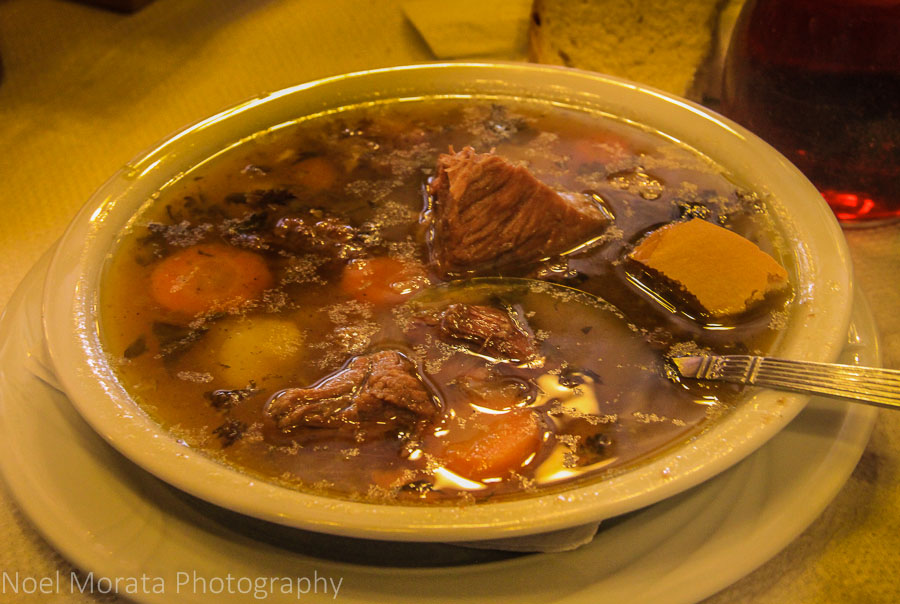 A delicious meat stew in an authentic Meteora bistro