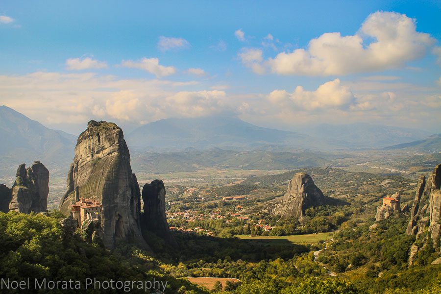 Panorama of the valley overlooking the entire region of Meteora