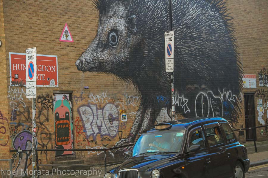 Street art in the Shoreditch district, London