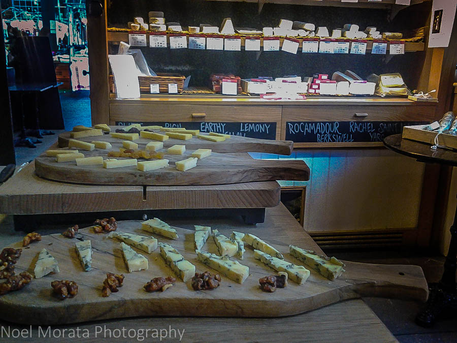 Tasting specialty cheeses from Androuet, London
