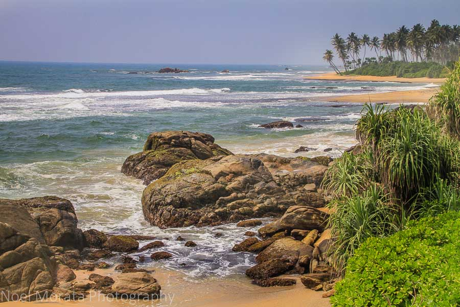 Coastal views from Jetwing Lighthouse in Galle