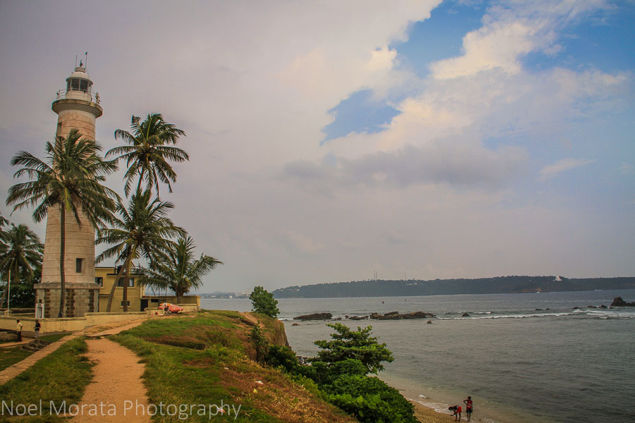 The tip of Galle fort and the lighthouse