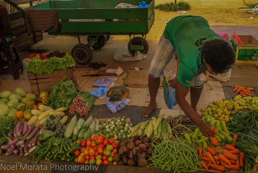Vegetable vendor at Negombo market