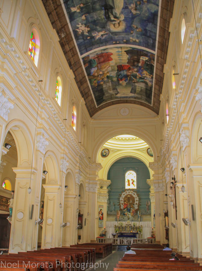Interior of St Mary's cathedral in Negombo