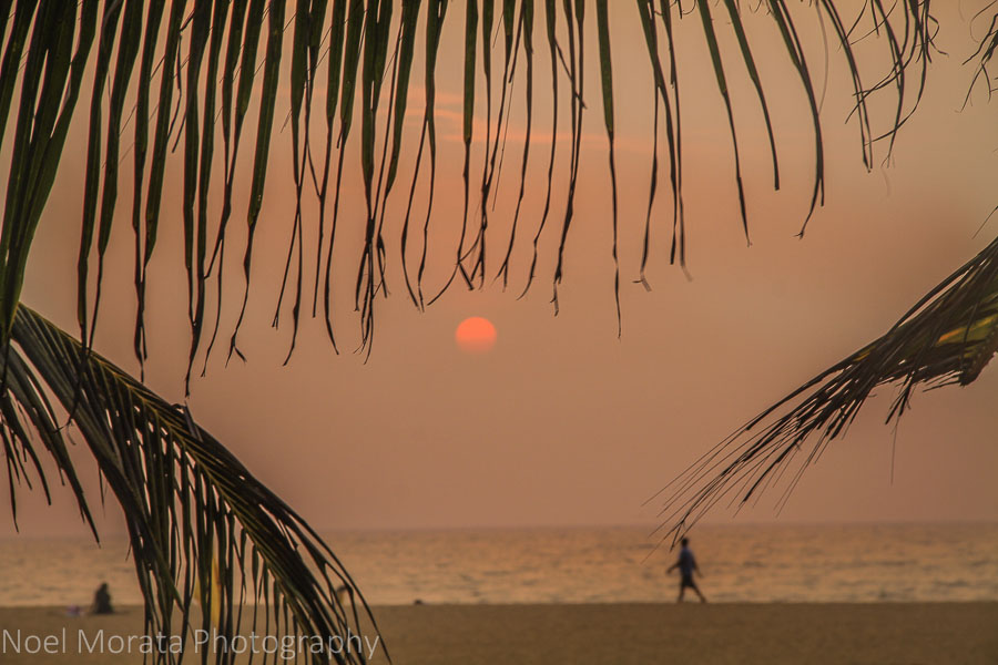 Sunset views from the beach at Jetwing Blue in Negombo