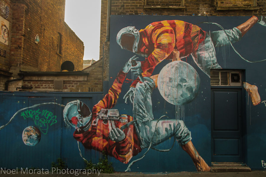 Colorful graffiti in East London