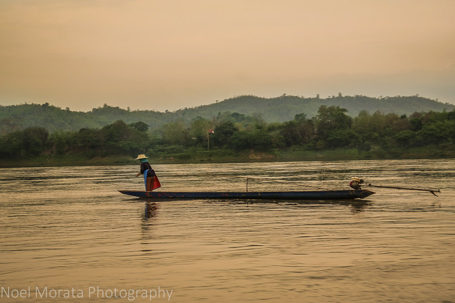 Sunset approaches the Mekong river at Chiang Khan