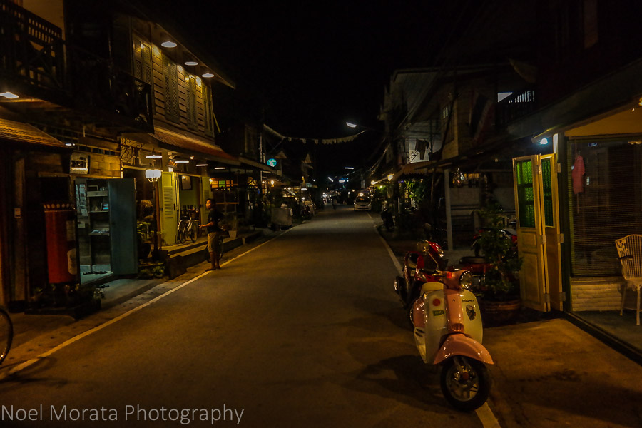 Evening time at Chiang Khan is lively