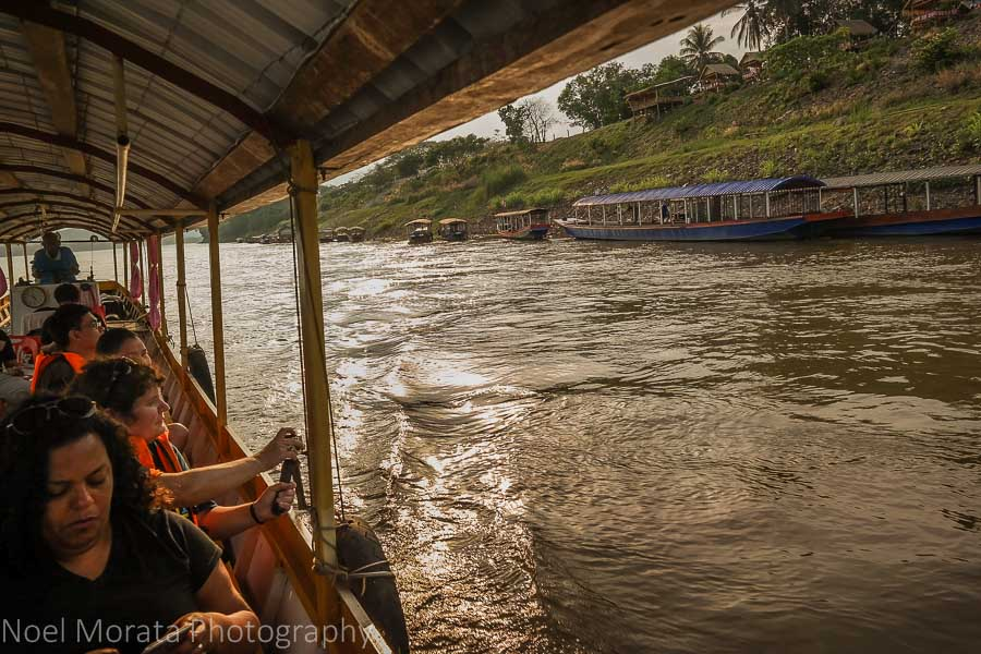 Traveling by long tail boat in Thailand