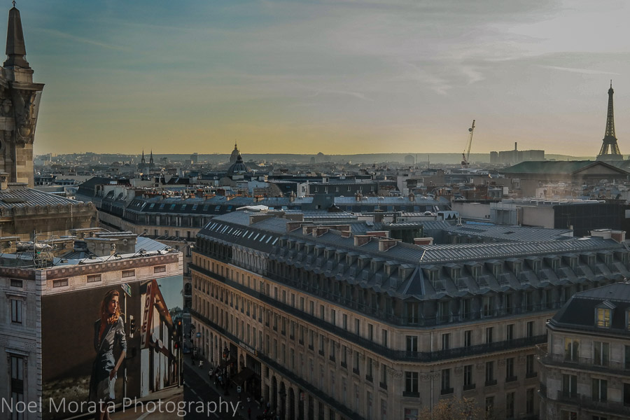 Roof top views at the Galleries Lafayette, Paris
