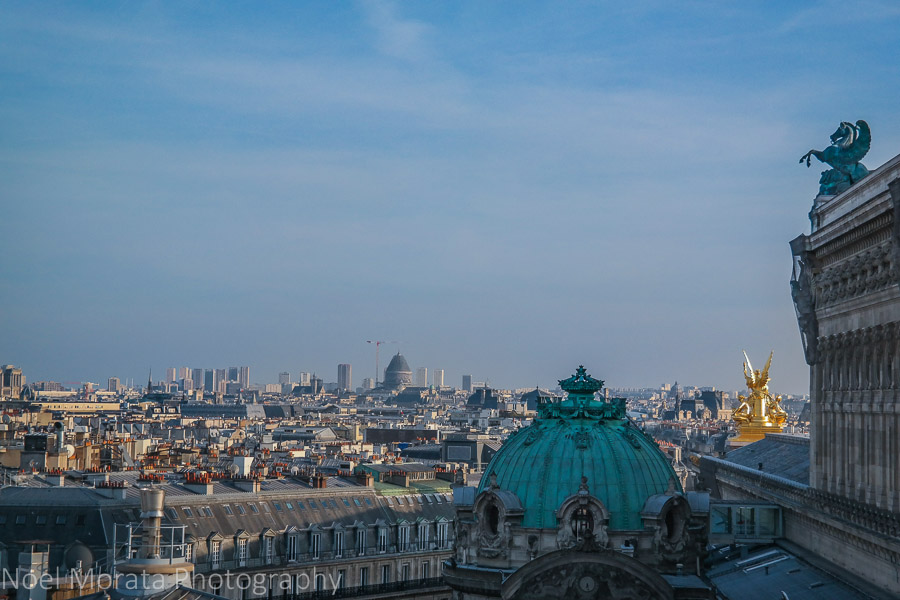 walking around Paris and scenic views from above